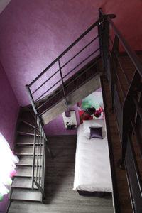 Gardes corps escalier intérieur en acier à Bourges