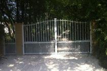 Pose portail aluminium deux battants motorisé à Vignoux-sous-les-aix