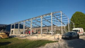 Bâtiment ossature métallique à Sancerre